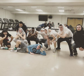 The boys of Mr. West strike a pose at one of their many rehearsals.