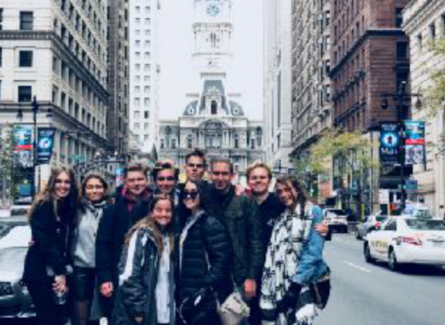Smile! West students and their Danes take on the city of Philadelphia.