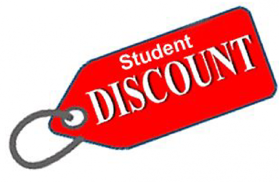 Many local businesses offer student discounts -- check them out today!
