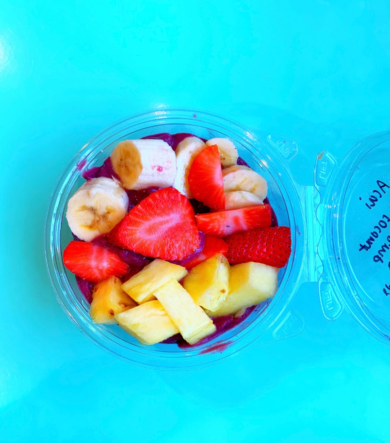 Juniper Tree has fresh fruit acai bowls that can be customized for each person.