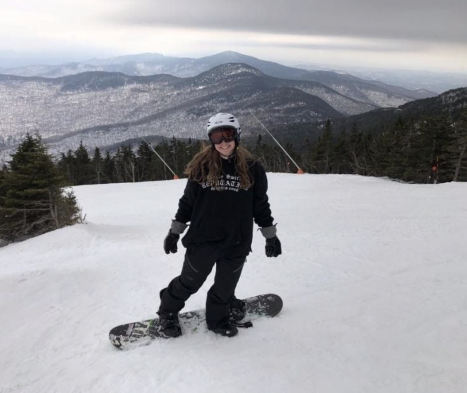 Hitting the Slopes! Ski and Snowboard Club member Leah McHoul ('21) Is proud to be part of the club!
