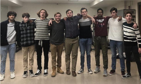 Introducing the cast of Mr. West 2020: Abraham Paroya. Michael Bertoni, John Vitali. Christopher Rieben, TJ Wickersham, Andrew Henrichon, Muhil Vaseekaran, Michael Magarahan, and Noah Haggerty.