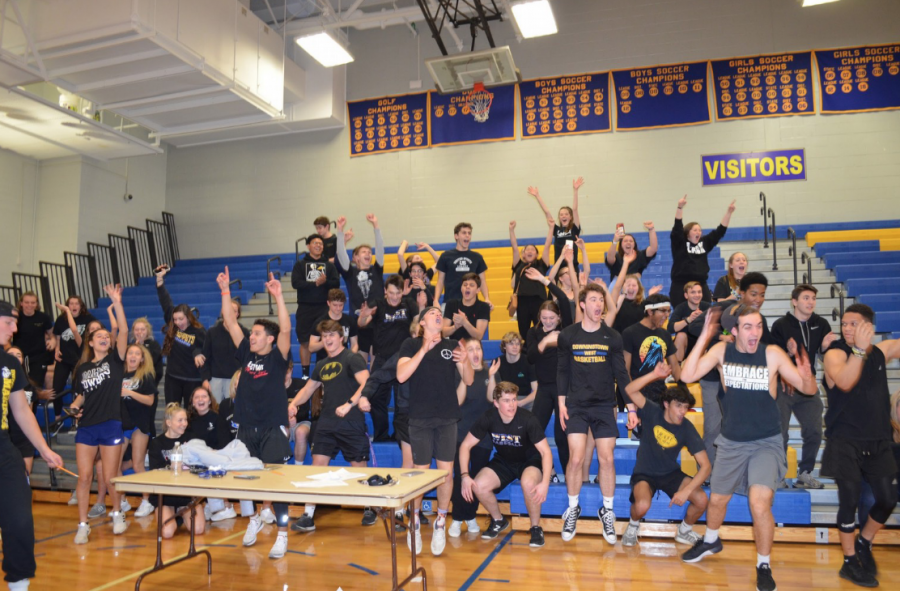 Victorious! The seniors react upon a big win at Clash of the Classes.