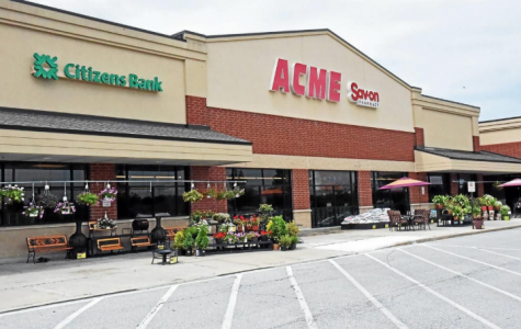 Grocery stores, such as ACME, are currently open and taking customers.
