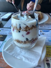 The yummy yogurt parfait is just one of the delicious choices on the Green Street Grill menu!